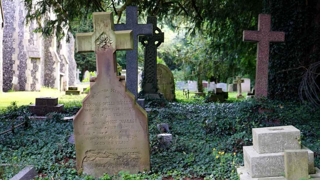 cemetery countryside cross garden